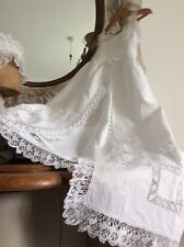 Antique French Baby Christening Gown~Fine Lawn~Exquisite Hand Made Delicate Lace