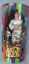 Austin Powers Dr. Evil in Silver Suit with Mini-Me Figure, Trendmasters 1999 Mib
