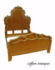 FINE FRENCH HIGH BACK CARVED QUEEN BED