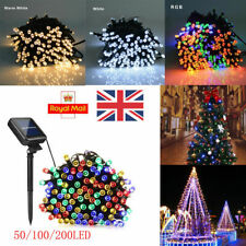 20-600 LED Lights Outdoor Fairy String Lights Solar Battery Operated Garden Deco