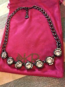 Silpada KRN0100 Glamour Swarovski crystals Brass Hematite necklace NEW Was $89