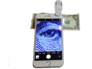 Nunafey Magnifying Glass Mini Mobile Phone Microscope Cell Phone Clip On Microscope for Currency Detecting