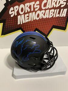 D'Andre Swift Signed Detroit Lions Mini Helmet AUTO Fanatics COA Deandre Swift