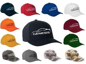 Hyundai Genesis Sports Car Classic Color Outline Design Hat Cap NEW