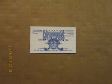 CHL Columbus Cottonmouths Vintage Defunct J.A. Schneider Hockey Business Card