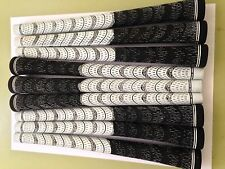 New Set of 13 White and Black standard dual Compound Golf Grips Tape cord corded