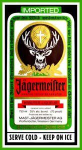 """5"""" Jagermeister Stag Label vinyl sticker. Jager Deer decal for bar, bong, laptop"""