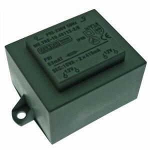 230V/2x12V AC 10VA Transformer 230VAC/2x12V AC Encapsulated Mains