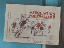 WILLS ASSOCIATION FOOTBALLERS 1935 -1936 SET of 50 in Album EX COND soccer cards