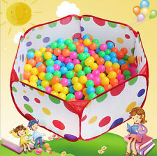Kids Portable Pit Ball Pool Outdoor Indoor Baby Tent Play Hut Have Fun Foldable: