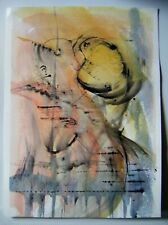 """Original Unsigned Ink & Watercolour Abstract Painting ~15"""" x 10"""""""