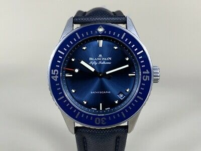 *Rare* Blancpain Fifty Fathoms Bathyscaphe Stainless Steel 38mm Watch FULL SET