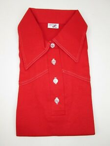 RARE NEW Vintage 70's Ladies Levis Big E Polo Style Shirt Pull Over Top L RED