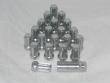 12mm x 1.5 CHROME TUNER SPLINE LOCK WHEEL RIM LUG NUT SET OF 20 & 1 KEY ACORN