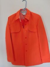 CARLISLE ORANGE PANTSUIT WITH STRIPED ACCENT ON THE LINING SIZE 6 NEVER WORN!