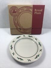 Longaberger Pottery ~ Traditional Holly 7-1/4� Diameter Round Bread Plate Nib