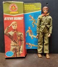 Kenner Boy Scout STEVE Action Figure Doll Uniform Boots Neckerchief 1974 box too