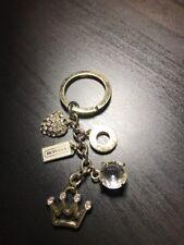 COACH Rhinestone Pave Heart Crown  Gold Mix Key Chain Ring