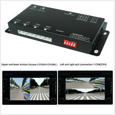 New 360° Car four Cameras Parking Video Split Control Image combiner Switch Box