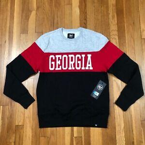 Georgia Bulldogs 47 Brand Men's Medium Crewneck. New NWT Gray Sweatshirt. NCAA