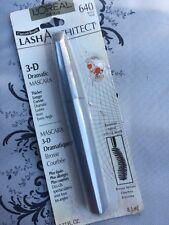 L'Oreal 3D Dramatic Lash Architect Mascara 640 black Noir New & Sealed