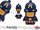 Cute Marvel Cartoon Captain America USB 8GB Flash Drive Memory Stick Gift Ring