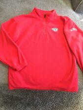 Youth Wisconsin Badgers Fleece Pullover Jacket 1/4 Zip Red Pro Edge Size 12/14