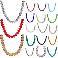 Wholesale Big Crystal Glass Faceted Rondelle Loose Spacer Beads 10pcs 18mm