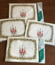 Vintage Reed's Christmas Paper Placemats All Purpose Tableware NOS 4 Pkgs Of 15