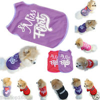Summer Pet Puppy Small Dog Cat Pet Clothes Vest T Shirt Dress Apparel Clothes AA