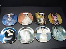8 x Sammelteller Gustav Klimt Frauenbildnisse / Portraits  in OVP BRADEX