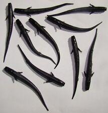Leurre souple imitation lançon civelle 7cm Noir X10