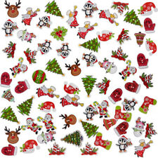 50X Sewing Button Snowflake Socks Buttons Clothing Christmas Decor Home Orn V0E9