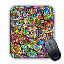 DISNEY CHARACTER INSPIRED STAINED GLASS MOUSE MAT Pad Computer PC Laptop Gaming