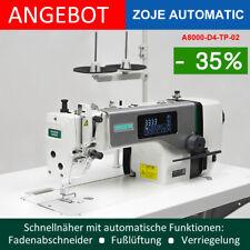 ☼ Industrienähmaschine Zoje Vollautomatik mit Fadenabschneider - aufgebaut Set