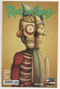 Rick and Morty #2 / 3rd Print Split Face Variant / Oni Press Comics Rare HTF VF