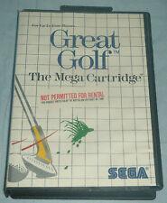 Boxed Sega Master System Game - Great Golf