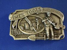 Vintage 1984 Ames Tools Fight for Freedom Belt Buckle Limited Edition #7154