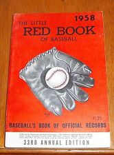 The Little Red Book of Baseball 1958   Baseball's Book of Official Records