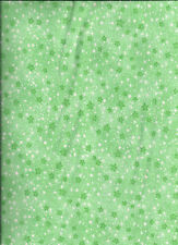 new Green Mini Stars 100% cotton flannel fabric by the yard
