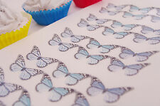 Blue Butterfly Cupcake Decoration Monarch 15pc Boy Navy Sapphire Turquoise Sea