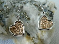 Clogau Silver & 9ct Rose Welsh Gold Welsh Royalty Heart Earrings RRP £189.00