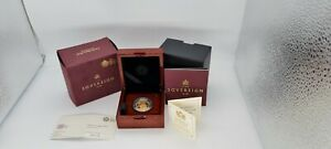 2018 British Royal Mint Gold Proof Full Sovereign Coin Box
