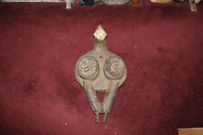 Antique African Gabon Punu Hand Carved Bellows-Carved Face Breasts Figure-Museum