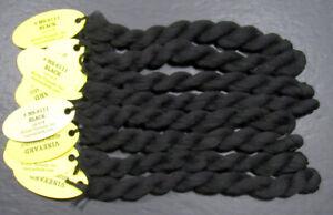 8xNeedlepoint/Embroidery THREAD WILTEX Vineyard Merino Strndble-Black-VS2431