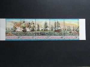 Anguilla - Elizabeth 1971 Sea Battles Strip Unmounted Mint