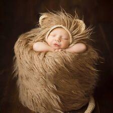 Cute Newborn Baby Kids Knit Crochet Hat Lion Cap Costume Photo Photography Prop