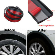 2x150cm Car Fender Flare Extension Wheel Eyebrow Trim Protector Lip Black Rubber