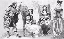HAUTE NOBLESSE du temps de LOUIS XIV - Gravure du 19e siècle
