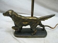 Cast Iron Irish Setter Pointer Dog Lamp Brass/Bronze Finish Figural Hunting